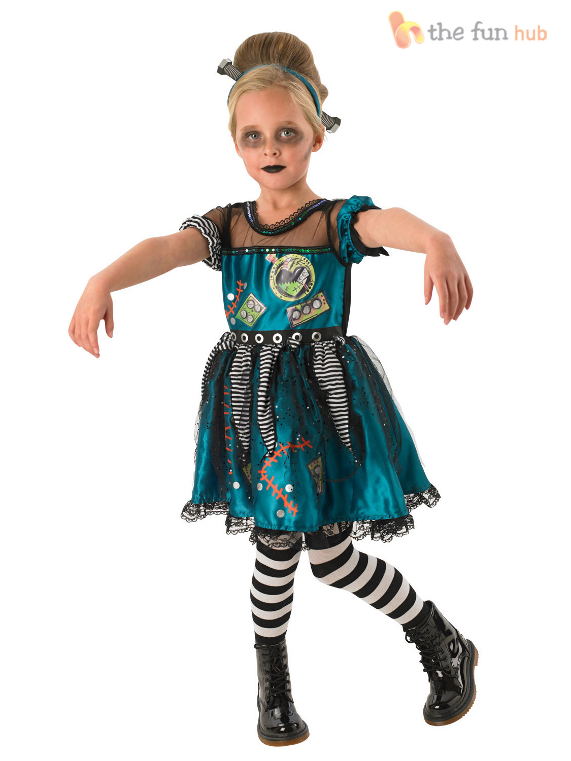 Halloween Costumes For Girls Age 10.Details About Children Frankie Frankenstein Costume Girl Halloween Fancy Dress Outfit Age 3 10