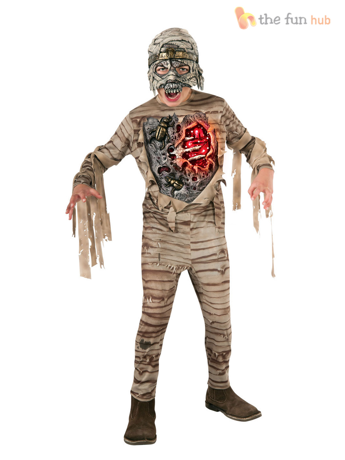 boys deluxe light up eye halloween costumes zombie kids childrens