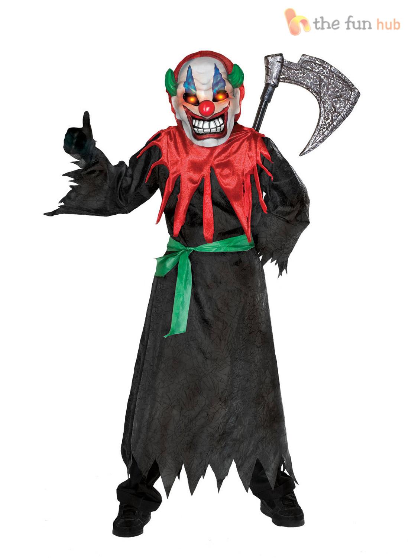 Boys Deluxe Light Up Eye Halloween Costumes Zombie Kids Childrens ...