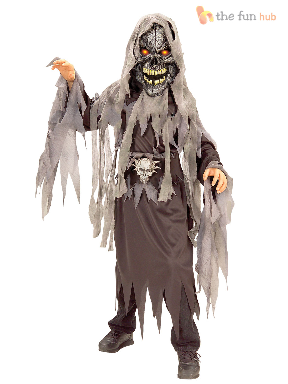 boys deluxe light up eye halloween costumes zombie - Deluxe Halloween Costume