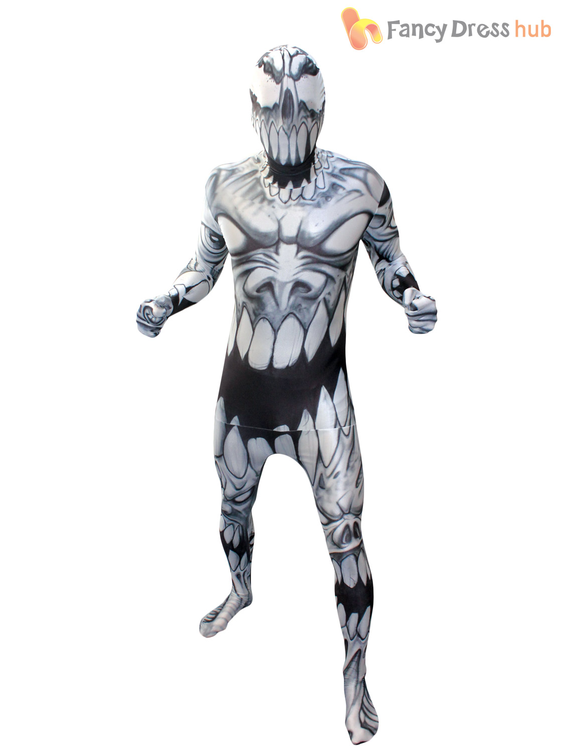 Adult-Morphsuit-Monster-Mens-Halloween-Robot-Zombie-Fancy-Dress-Costumes-Party