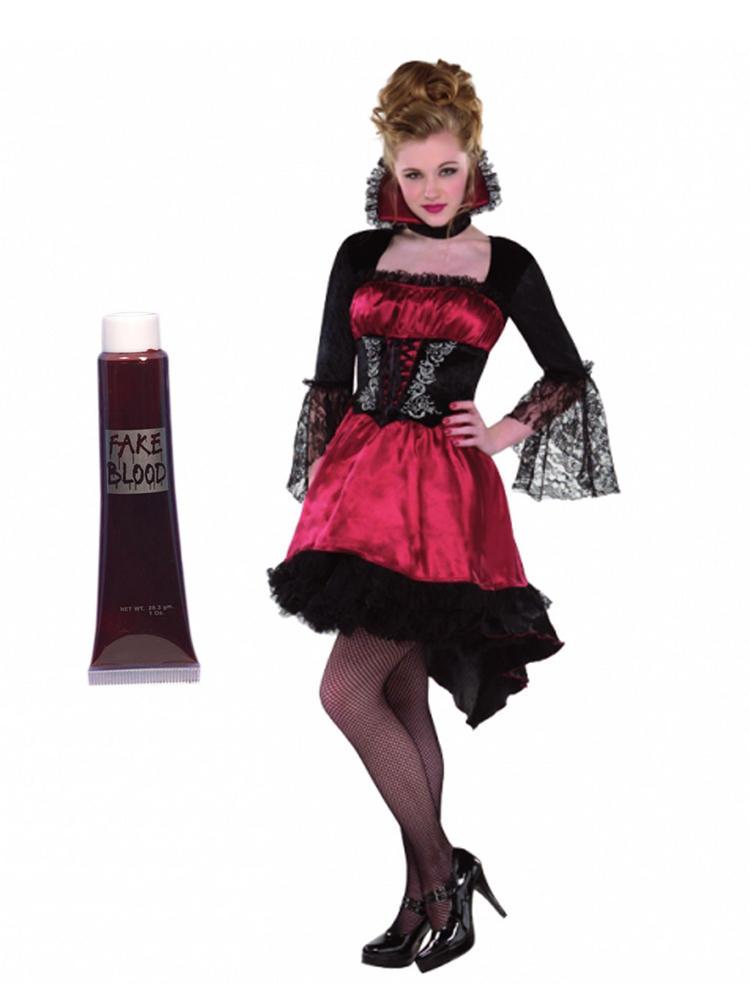 Ladies Va Va Vampire Costume & Blood