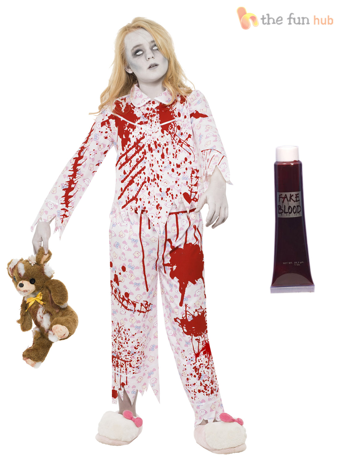 age 7-15 girls zombie costumes + blood halloween fancy dress party