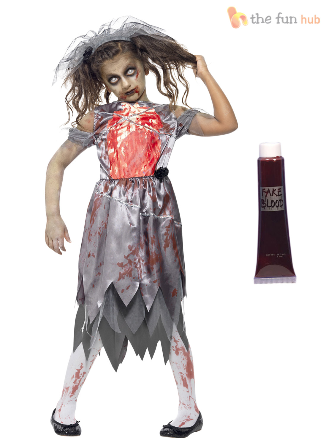 Age 7 15 Girls Zombie Costumes Blood Halloween