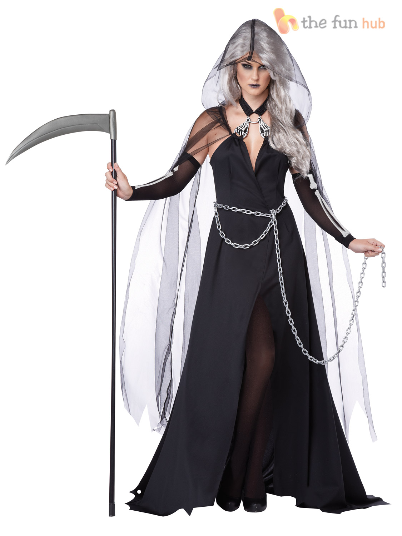 size 8 22 ladies sexy grim reaper death - Halloween Costume Death