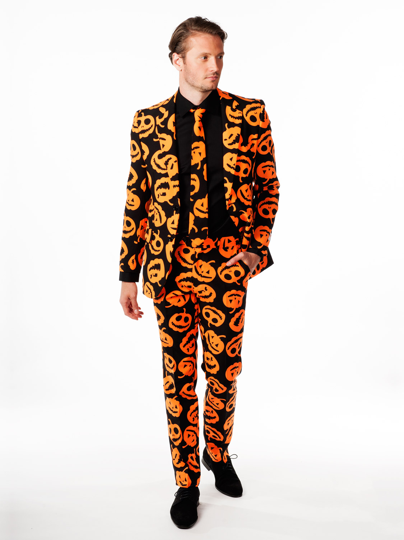 opposuit batman pumpkin oppo suit mens halloween stag do fancy dress outfit ebay. Black Bedroom Furniture Sets. Home Design Ideas