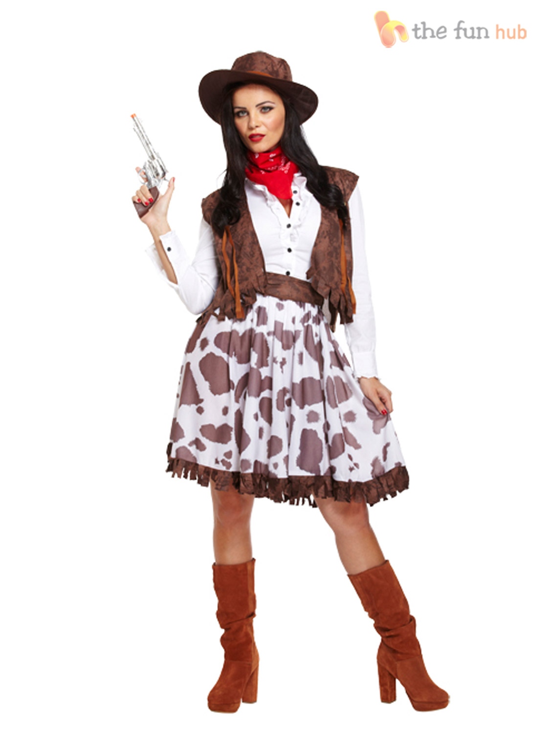 Sexy-Ladies-Cowgirl-Cowboy-Fancy-Dress-Costume-Wild-  sc 1 st  eBay & Sexy Ladies Cowgirl Cowboy Fancy Dress Costume Wild West Outfit 10 ...