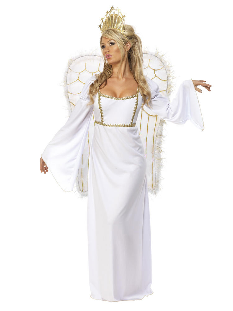 Ladies Long Deluxe Angel Costume