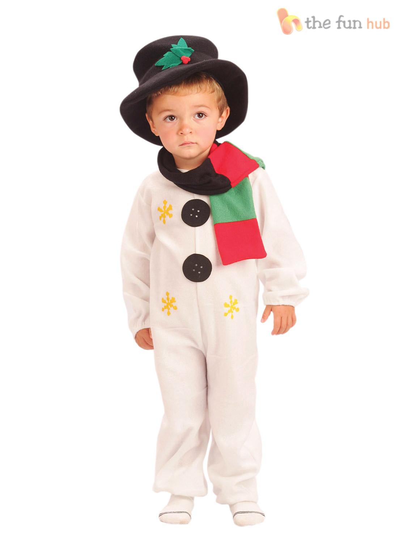 Kids child snowman costume age christmas fancy dress