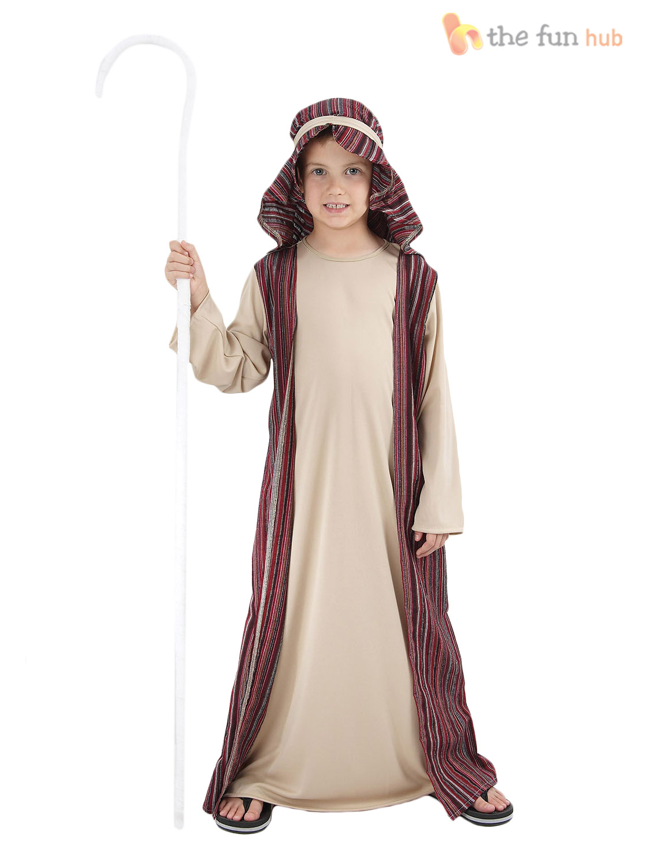Kids shepherd joseph innkeeper nativity costume boys christmas fancy