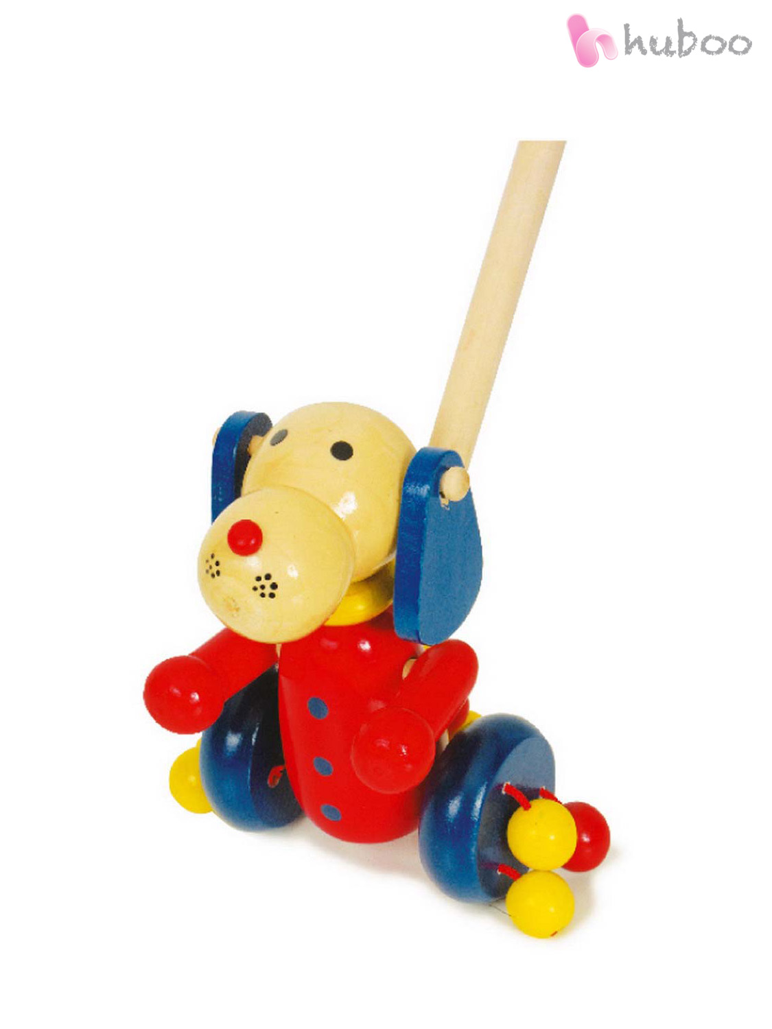 Wooden Toys For Pre School : Chunky wooden pushalong animal toys push along baby