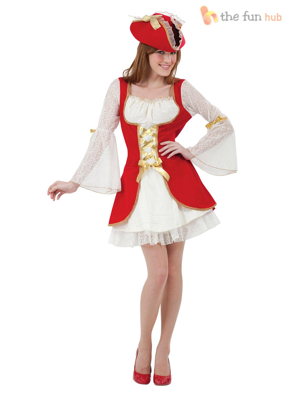 piratenkost m f r damen karibik fasching karneval kost m pirat piratin gr 38 42 ebay. Black Bedroom Furniture Sets. Home Design Ideas