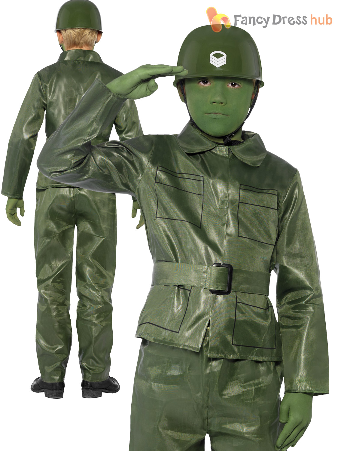 Toy Soldiers For Boys : Boys green army plastic toy soldier kids fancy dress up