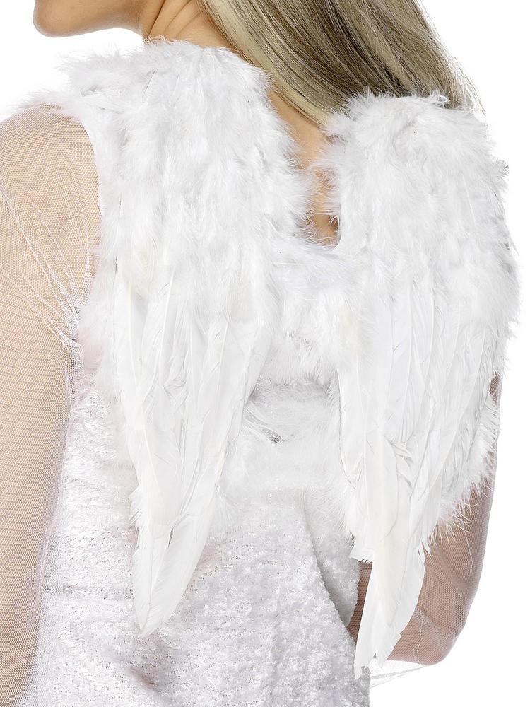 Ladies White Angel Wings