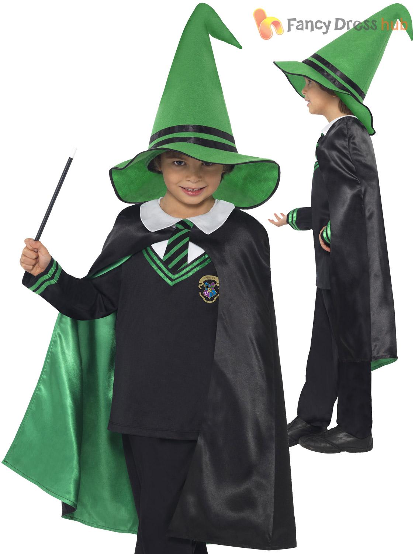 Child Wizard Costume Boys Girls Harry Potter Fancy Dress Halloween ...