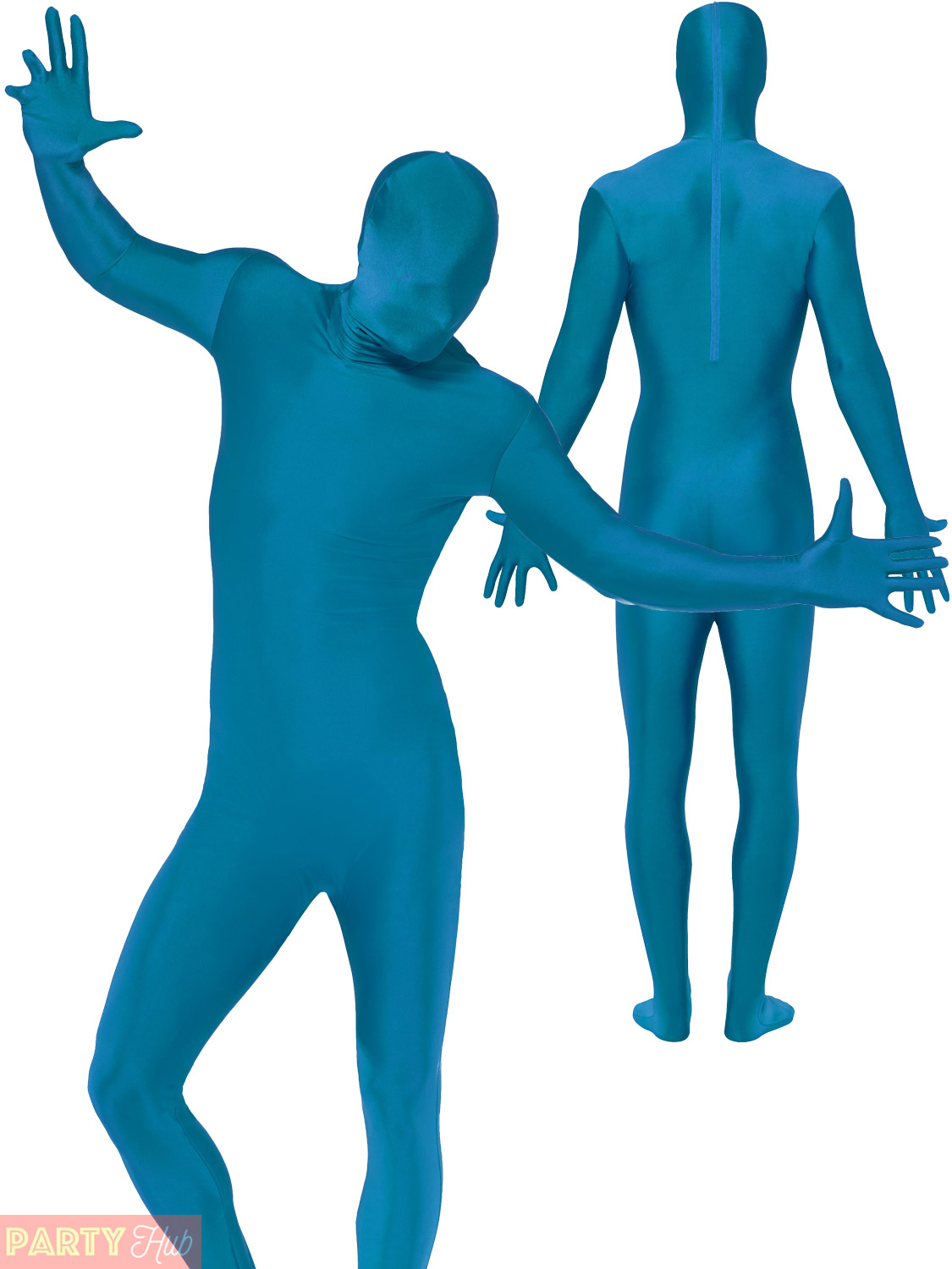 Mens Second Skin Body Suit Adults Fancy Dress Costume Stag Do Party Outfit Lycra
