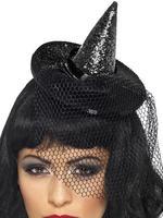 Mini Sequin Witch Hat Headband