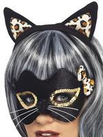 Ladies Midnight Kitty Mask & Headband