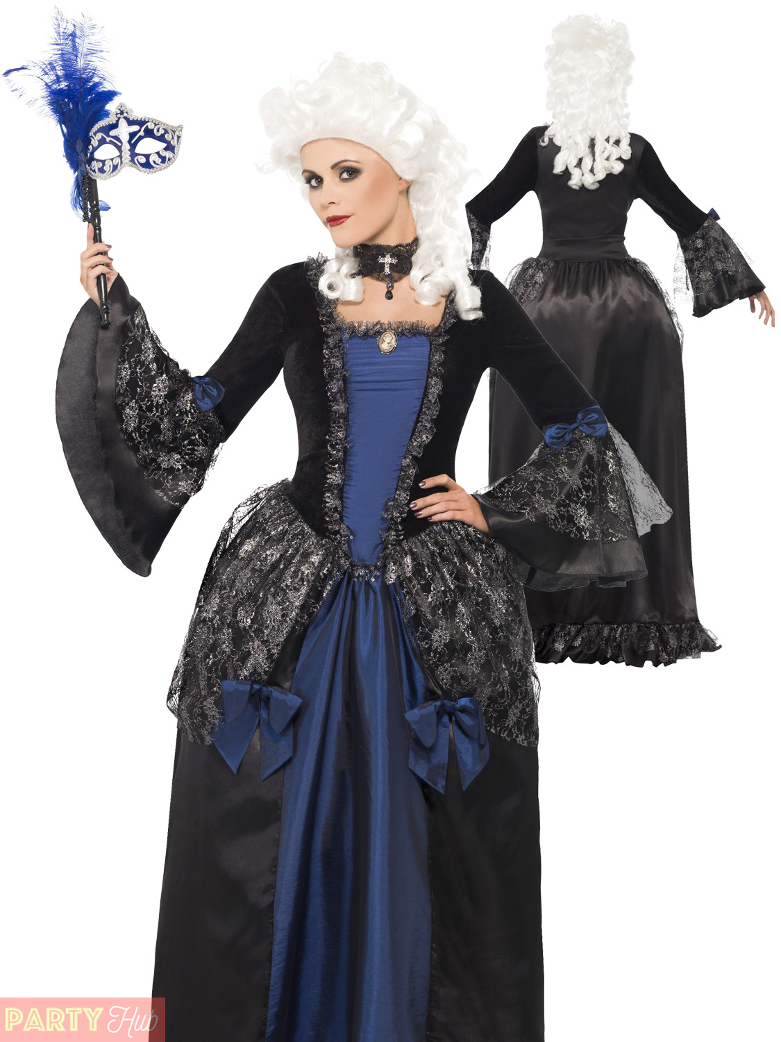 Ladies Halloween Masquerade Costume Womens Baroque Beauty Fancy Dress Outfit | eBay
