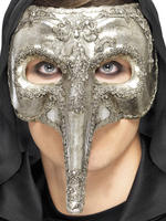 Men's Luxury Venetian Capitano Mask