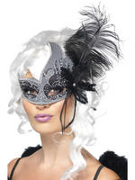 Ladies Masquerade Dark Angel Eye Mask