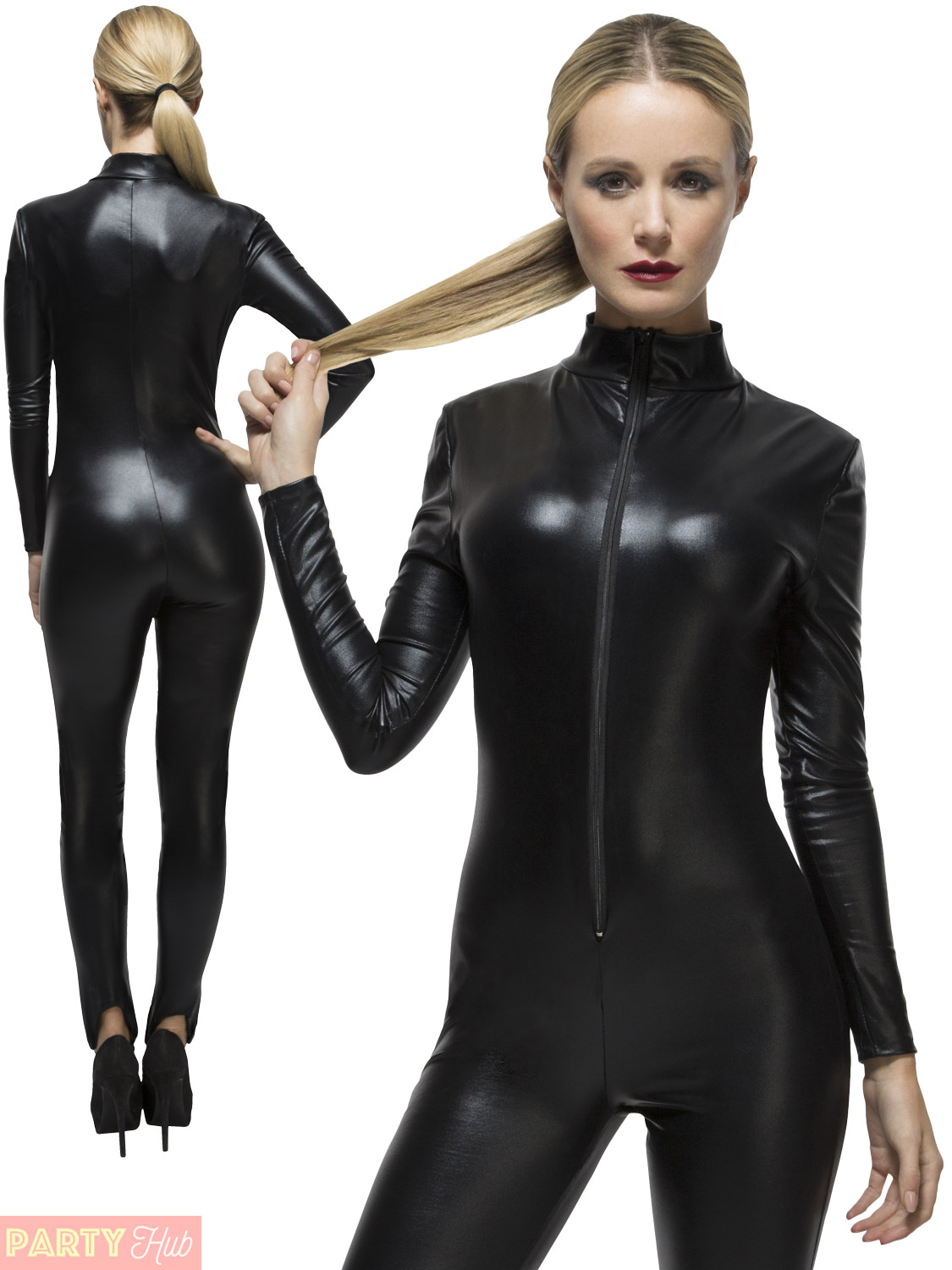 Black Women Catsuit Shiny Metallic Halloween Costume Cosplay Halloween. The catsuit is famous for its shiny metallic material and unicolor cripatsur.ga classic black catsuit displays your fabulous beautiful figure that you can gain more attention from cripatsur.ga the same time,the sexy black makes people recall the cool heros in the movice The cripatsur.gas,the white zipper in the back highlights.