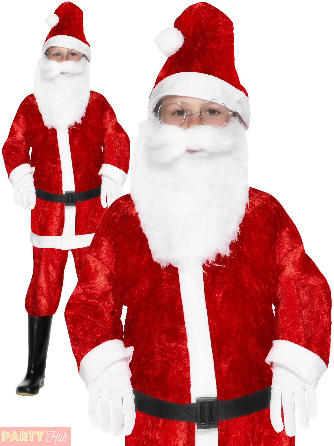 Boys santa claus costume childs father christmas fancy