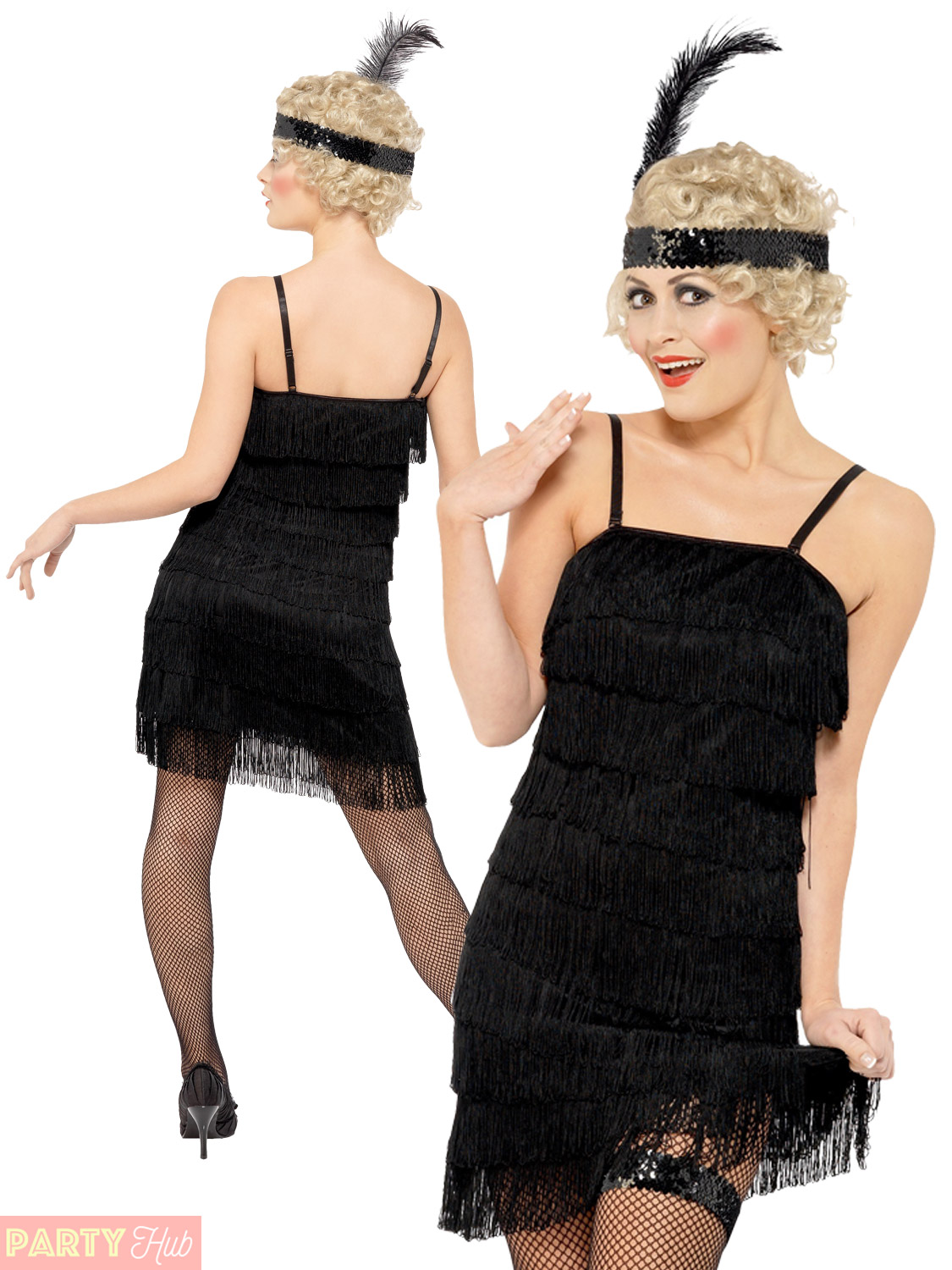 Ladies 1920s Fringe Flapper Costume Adults Charleston Fancy Dress Gatsby Outfit