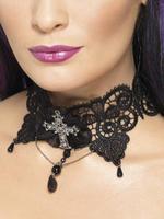 Ladies Gothic Vampire Lace Choker