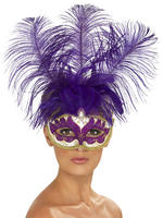 Ladies Venetian Can Can Mask