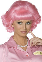 Ladies Pink Frenchy Wig