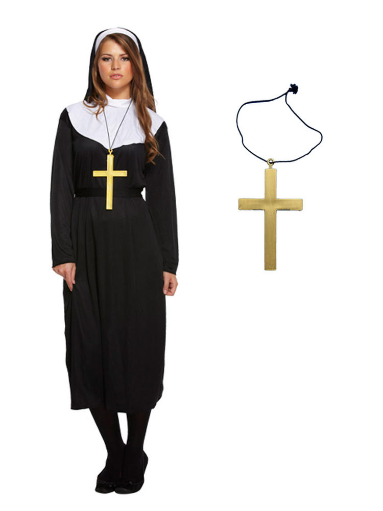 Ladies Deluxe Monk Habit & Cross