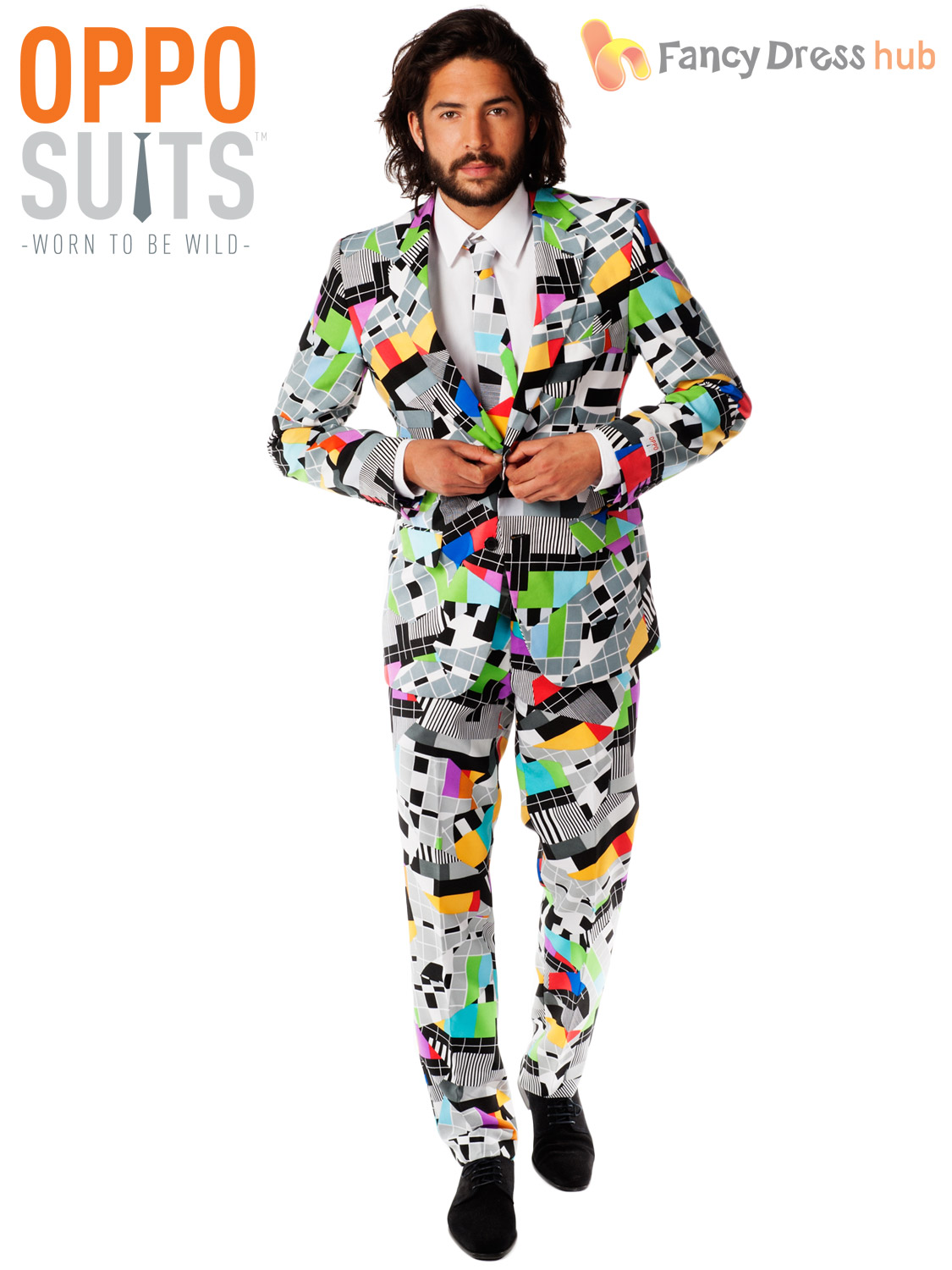 Mens Original Oppo Suits Stag Do Fancy Dress Outfit Party Mardi Gras Costume | eBay