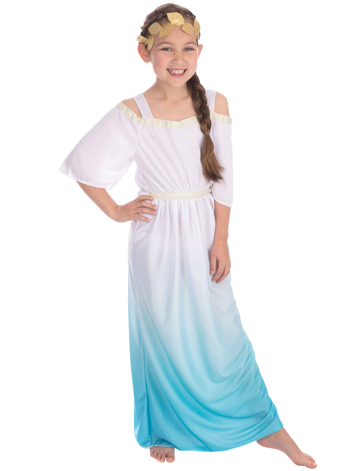 Click image to enlarge. Image for reference only, bundles and options ...: www.ebay.co.uk/itm/Age-4-11-Girls-Greek-Goddess-Costume-Roman-Toga...