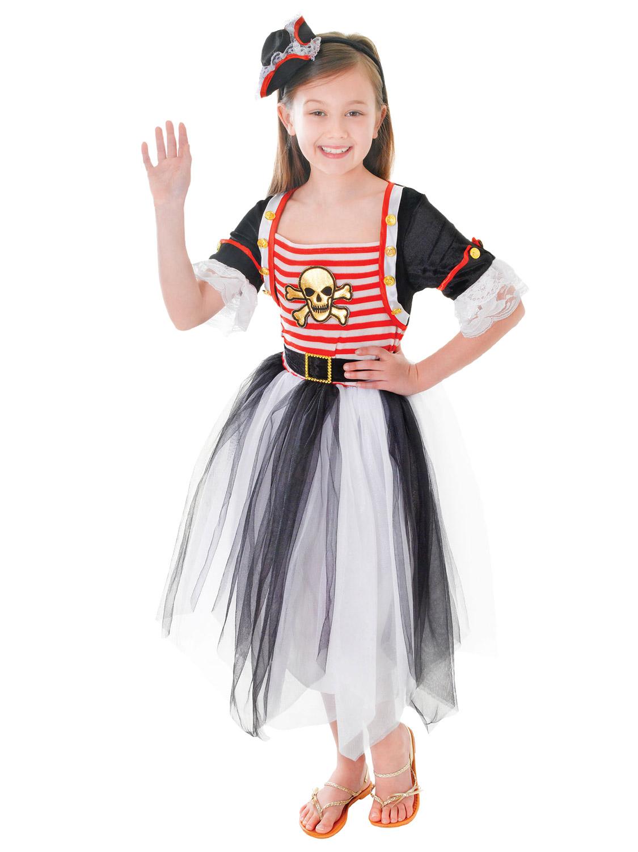 Girls Pirate Caribbean Princess Fancy Dress Party Costume