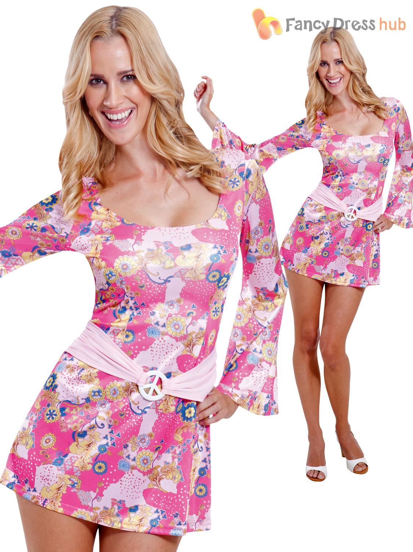 uk 8 16 60s 70s hippy flower power hippie fancy dress
