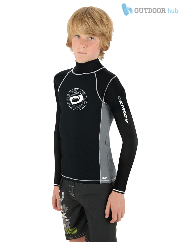 Osprey kids long sleeve rash vest wetsuit tshirt guard Rash guard shirts kids