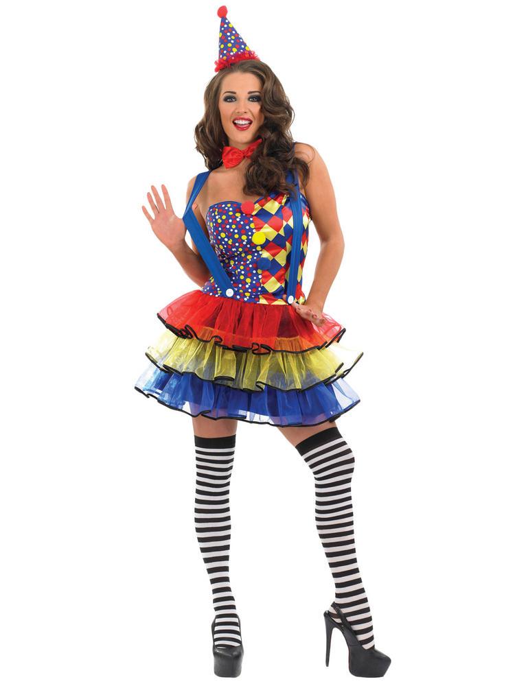 Ladies Cutie Circus Clown Costume
