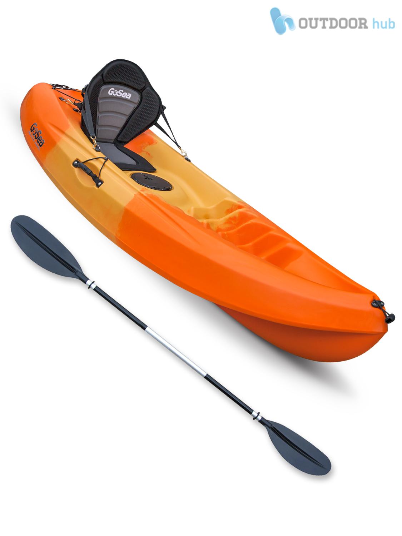 Sit on top single kayak beginner entry level stable ocean for Beginner fishing kayak