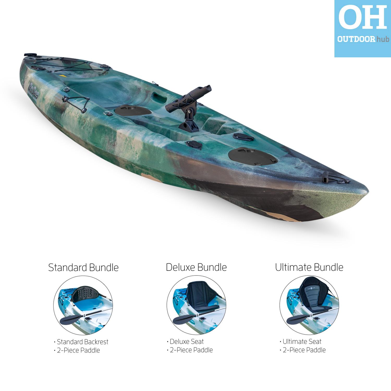 Fishing kayak sit on top single rod holders ocean canoe for Ocean fishing kayaks