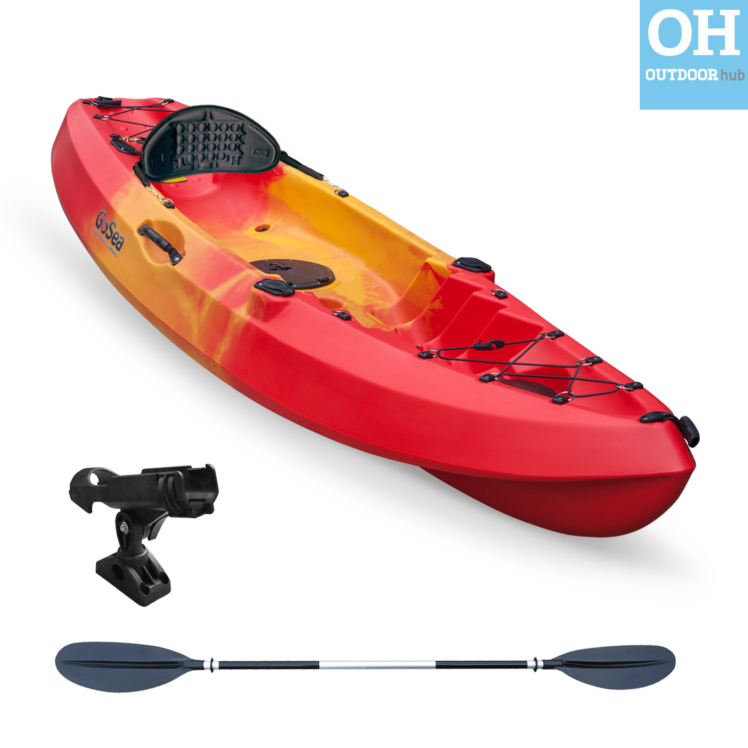 Sit on top kayak single fishing ocean angler canoe gosea for Best canoe for fishing
