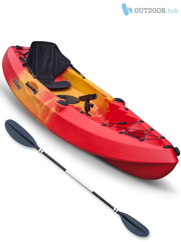 Sit on top kayak single fishing ocean angler canoe gosea for Best fishing canoe