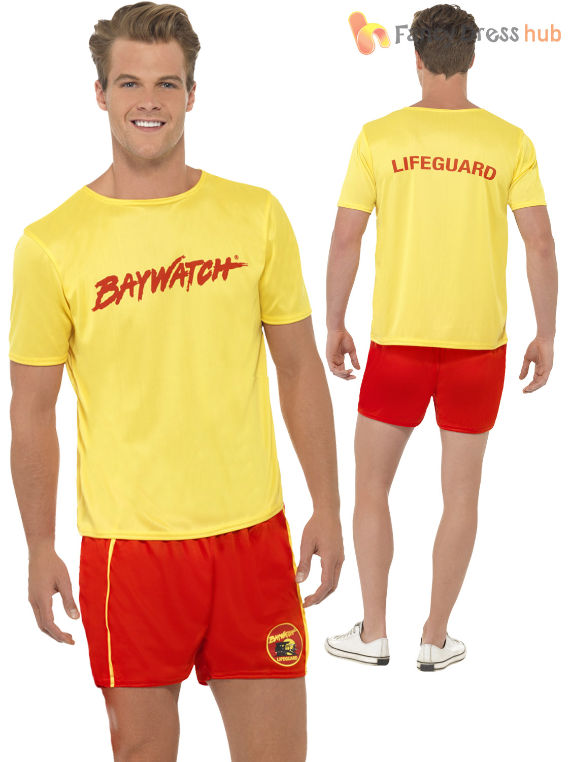 74400b2cbc92 Mens Baywatch Lifeguard Sports Uniform Fancy Dress 90S Tv Stag Party ...