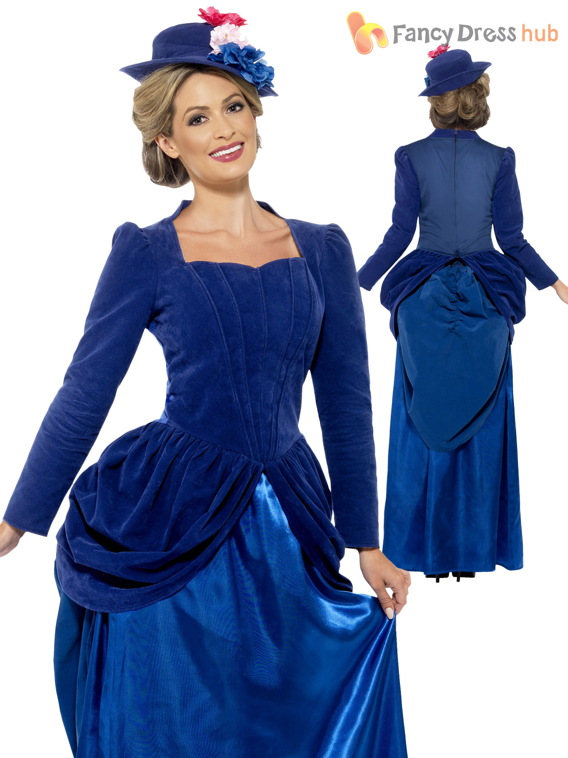 Ladies Deluxe Victorian Lady Nanny Fancy Dress Costume