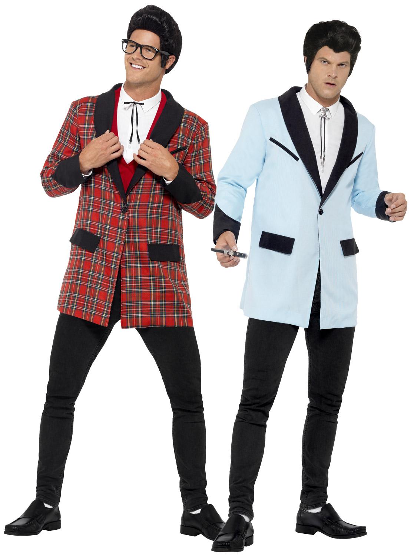Boy Costume 50s Rocker Mens Fancy Dress Costume Buddy Holly Outfit