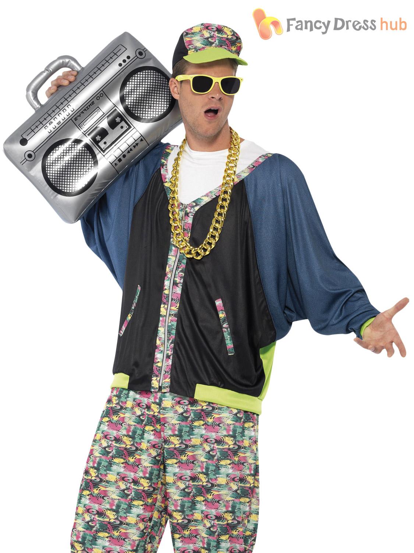 adult 80s hip hop costume rapper mc hammer fancy dress. Black Bedroom Furniture Sets. Home Design Ideas