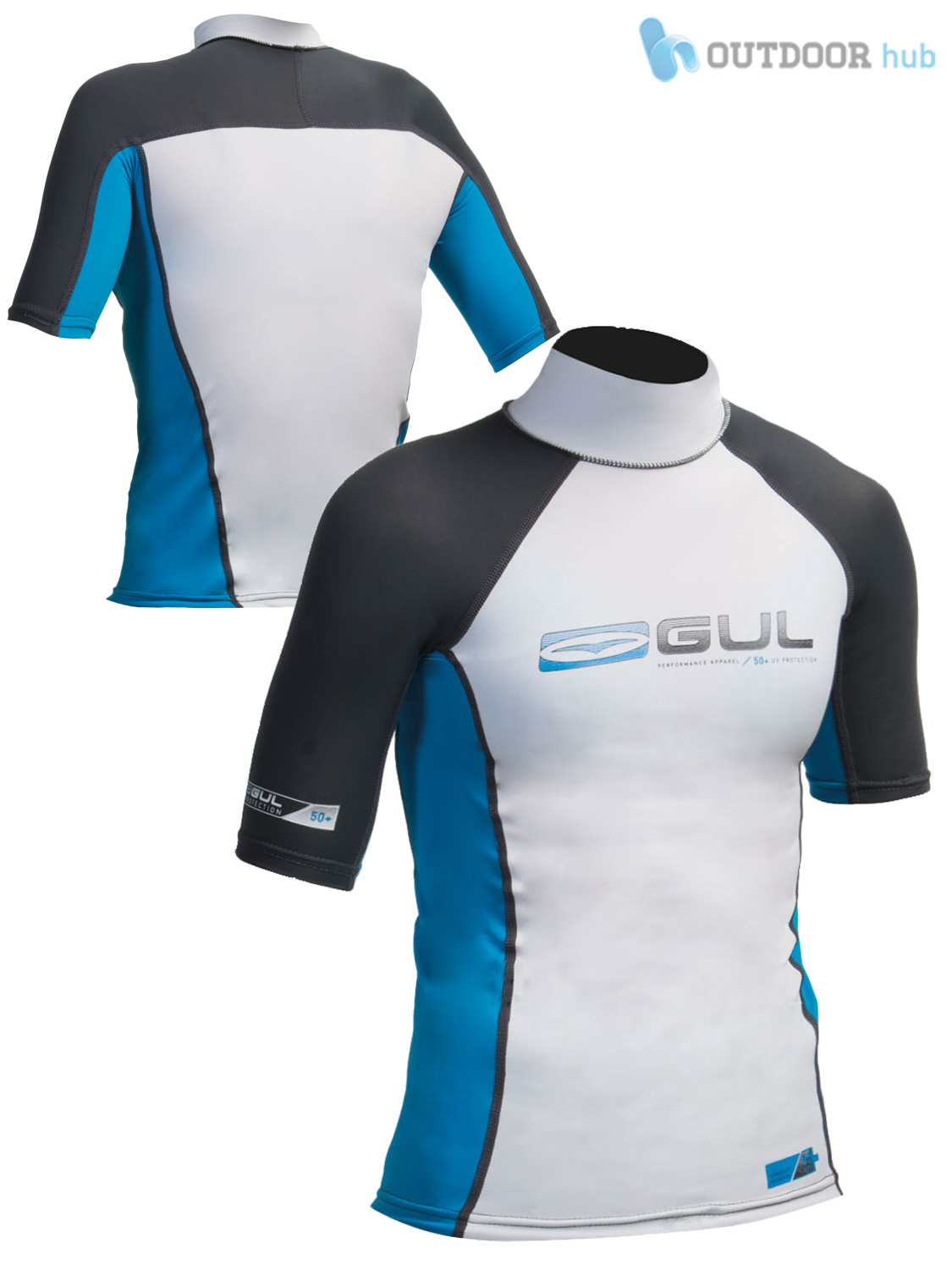 Gul boys short sleeve rash vest guard watersports beach swim uv sun wetsuit kids ebay for Rash after swimming in pool pictures