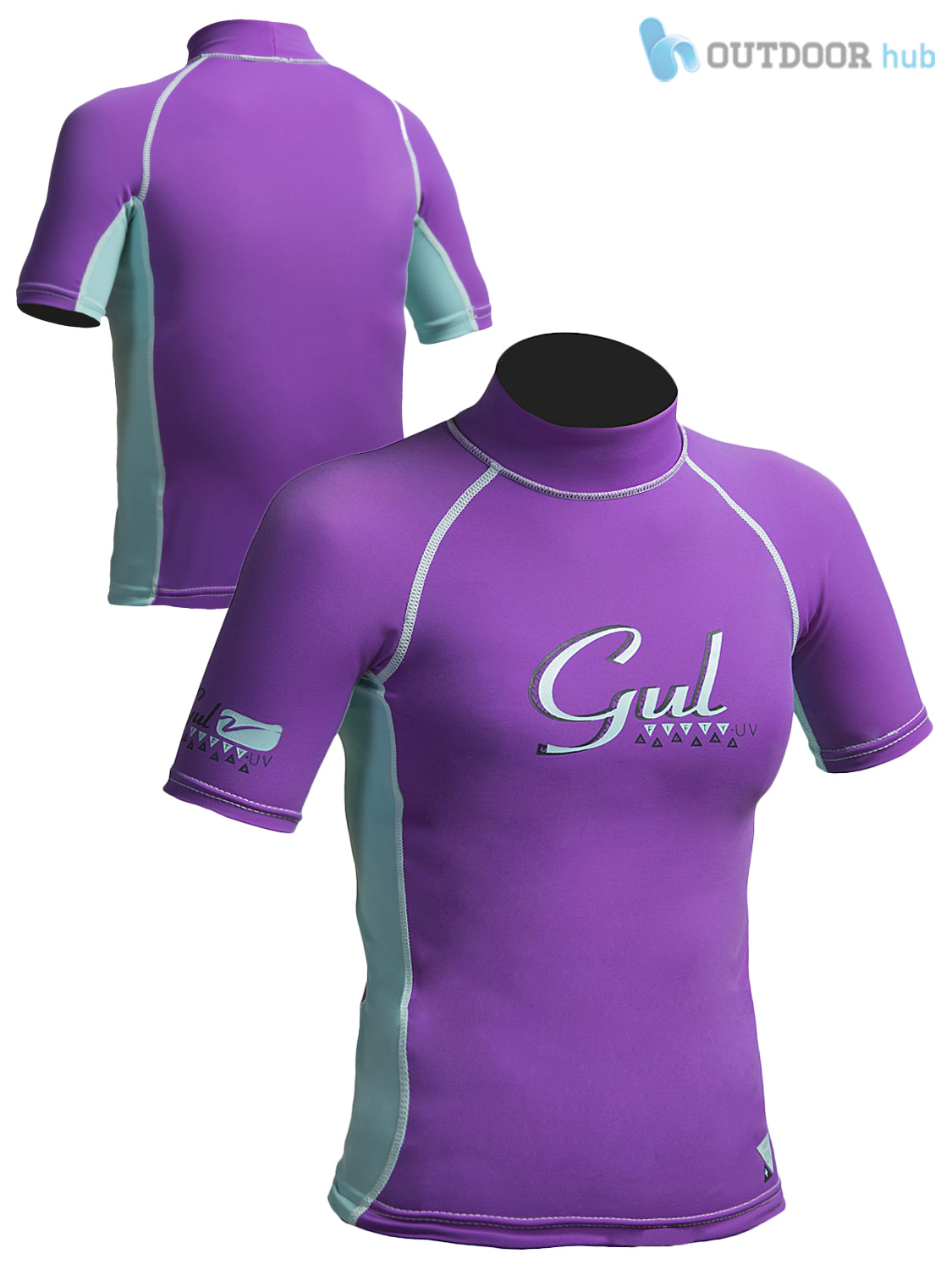 Gul girls short sleeve rash vest guard watersport beach swim uv sun wetsuit kids ebay for Rash after swimming in pool pictures