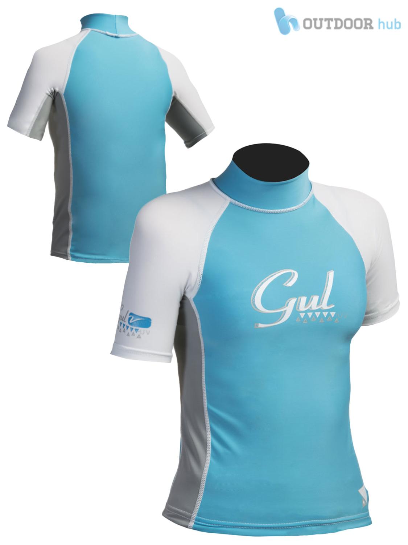 Gul Girls Short Sleeve Rash Vest Guard Watersport Beach Swim UV Sun Wetsuit Kids