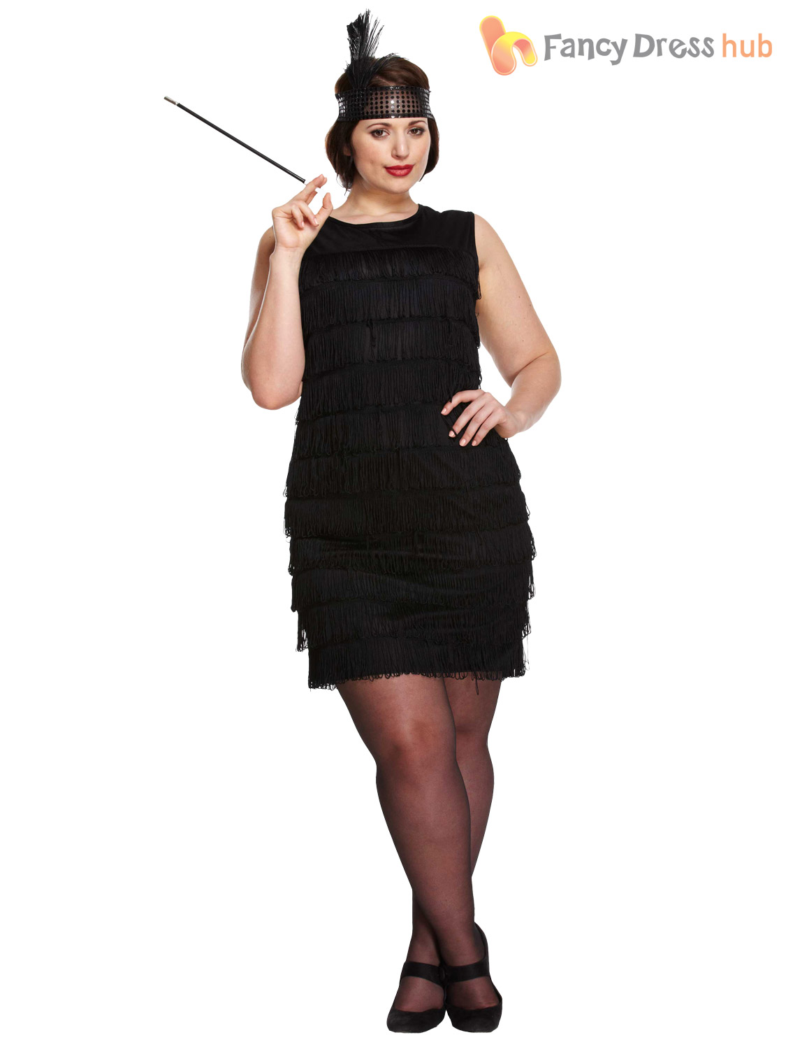 Ladies 1920s Flapper Costume Womens Charleston Gangster ...